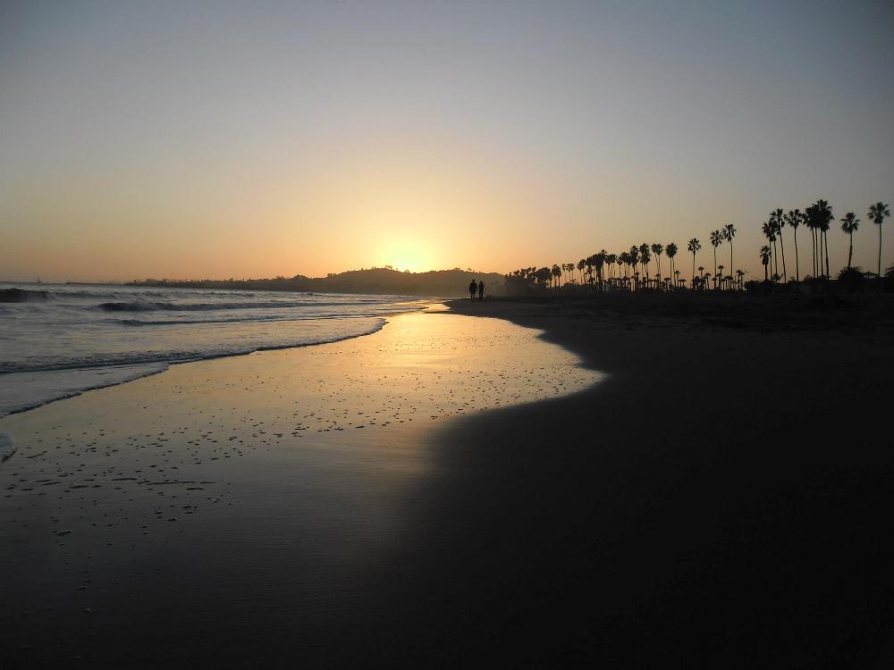 Coucher de soleil à Santa Barbara